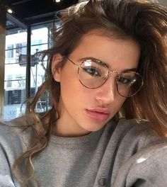Fashion Women Glasses Frame Optical Glasses Frames Mens Glasses Online Glasses Frames For 60 Year Old Man Fake Glasses, New Glasses, Girls With Glasses, Glasses Frames, Makeup For Glasses, Circle Glasses, Glasses Outfit, Round Lens Sunglasses, Cute Sunglasses