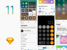 Get this latest iOS11 GUI Sketch freebie in your collection. shared by Takahashi Alex