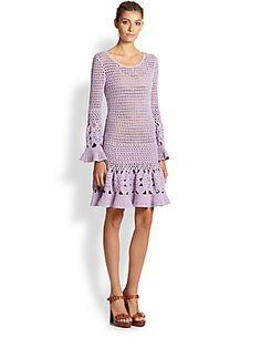 Michael Kors | Cashmere & Cotton Crochet Dress $1750