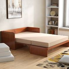 RoomAndLoft Rolling Queen Murphy Bed with Mattress & Reviews | Wayfair