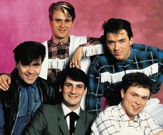 Spandau ballet and their more suit-y New Romantic-ness.