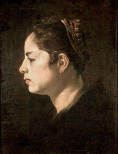 Diego Velázquez Head of a Young Woman (c. Said to be a Portrait of the Artist Wife Spanish Painters, Spanish Artists, Classic Paintings, European Paintings, Caravaggio, Diego Velazquez, L'art Du Portrait, Renaissance Portraits, Google Art Project