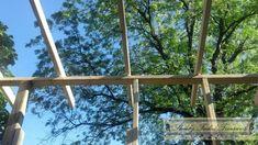 Screened-in porch build 8 Patio Gazebo, Pergola With Roof, Back Patio, Pergola Plans, Backyard Patio, Backyard Studio, Screened In Porch Diy, Screened Porch Designs, Porch Roof