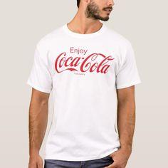 Enjoy Coca-Cola Logo T-Shirt - tap, personalize, buy right now! Coca Cola Party, Coca Cola Shop, Coca Cola Zero, Pepsi, Coke, Script Logo, Tshirt Colors, Shirt Style, Colorful Shirts