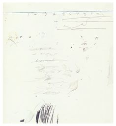Cy Twombly - Poems to the Sea, 1959.