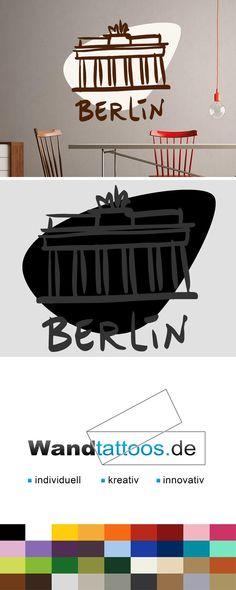 Good Wandtattoo Brandenburger Tor zweifarbig Berlin