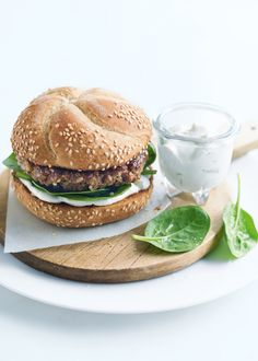 Quinoa just keeps getting better. Delicious in a burger patty.