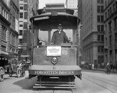 New York Trolley Car. Brooklyn Bridge Line. 1910s.