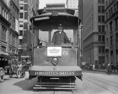 New York Trolley Car. Brooklyn Bridge Line. 1910s.
