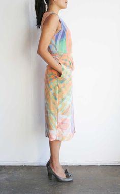 Prism Print Infrared Midi Dress