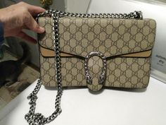 77d5395c85b524 Details about Auth GUCCI 94898 GG Canvas Shoulder Bag Tote Handbag Leather  Fabric Beige Brown