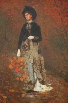 Autumn, oil on canvas, 1877, The Jolly Flatboatmen, oil on canvas, 1846, George Caleb Bingham (American, 1811-1879), National Gallery of Art, Washington DC, 2012