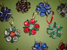 bottle cap ornament by janie