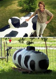 If your cow emits propane instead of methane, you just might be drawing a combustible concoction from a moo-tifully modified storage tank. If not, you've just plugged the grill fueling hose into a very unhappy bull.
