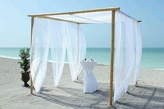 MuyAmeno.com: Decoración de Bodas en la Playa, Pérgolas
