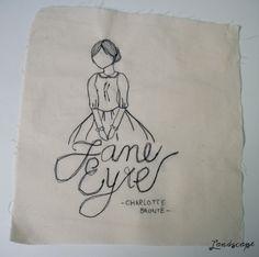 Meus Bordados (Free Machine Embroidery) - Jane Eyre, Charlotte Bronte