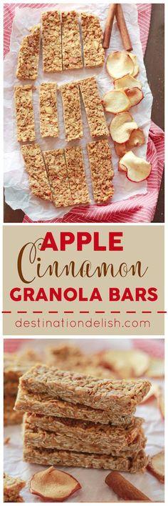 Apple Cinnamon Granola Bars | Destination Delish