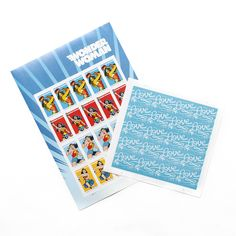 Ok, ladies, who else had Wonder Woman underwear as a child? We've got a whole lotta love for these @uspsstamps stamps we just picked up at the post office - they'll be perfect for adorning letters and care packages to some of our favorite wonder women! 💌💪
