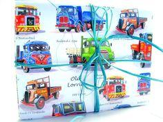 """4 Briefumschläge mit Karten """"Old Lorries"""" von J-Warratz - wunderschöne Dinge, nur für dich gemacht. auf DaWanda.com"""
