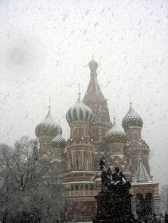 St Basil's Cathedral in the snow - Moscow | Russia