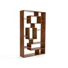 Vysoká knihovna z medového palisandru Square Teak, Bookcase, Shelves, Abstract, Furniture, Home Decor, Summary, Shelving, Decoration Home