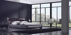 Siracusa Modern Leather Bed Frame