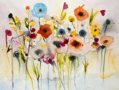 "Saatchi Art Artist Karin Johannesson; Painting, ""Candy blossoms"" #art"