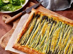 Spring Asparagus Tart recipe from Food Network Kitchen via Food Network