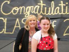 me and my aunt diana at 5th grade grad.