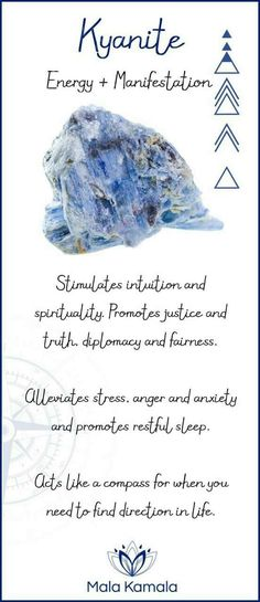 Quartz Crystals What is the meaning and crystal and chakra healing properties of kyanite? A stone for energy and manifestation.What is the meaning and crystal and chakra healing properties of kyanite? A stone for energy and manifestation. Crystal Magic, Healing Crystal Jewelry, Gemstone Jewelry, Crystal Cluster, Quartz Crystal, Silver Jewelry, Crystals And Gemstones, Stones And Crystals, Chakra Crystals
