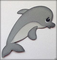 PREMADE SEA DOLPHIN ANIMAL PAPER PIECING BY MY TEAR BEARS KIRA