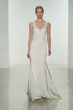 best new wedding dresses bridal market. I love the top on this one. I bet the back is gorgeous! I'm picturing a hundred buttons going down the center and lace at the top.