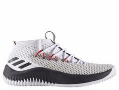 New Men's ADIDAS DAME 4 - BY3759 - White Black Red Lillard Basketball  Sneaker