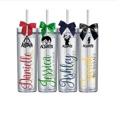 Custom Harry Potter Fan Wedding Bridesmaid Groomsmen Bachelorette Gift Tumblers House Cup by HoneydukeDesigns on Etsy