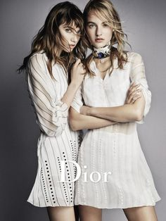 Dior S/S 2016, Grace Hartzel and Maartje Verhoef by Patrick Demarchelier