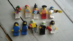 Lego Minifigures Pirate Astronaut City Vintage by CraftySara on Etsy