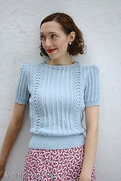 Ravelry: Panelled Effect Lady's Jumper pattern by Susan Crawford (A Stitch In Time, Knitting and Crochet Patterns, Vol. Jumper Patterns, Vintage Patterns, Knitting Patterns, Crochet Patterns, Vintage Knitting, Vintage Crochet, Mode Vintage, Vintage Tops, Knitting Stitches