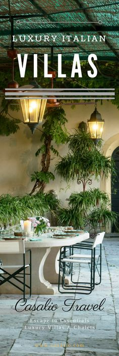 Spectacular Italian Villas with beautiful gardens and views for holiday in Italy.