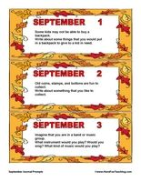September Daily Journal Prompts - Have Fun Teaching