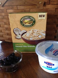 Coconut Chia Granola from Natures Path Organics - a new addition to our pantry line up - awesome as a cereal with milk or with yogurt - DIVINE!!