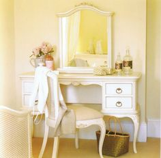 Nice little dressing table with mirror and chair