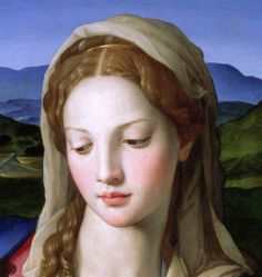 The artwork Holy Family with St. Anne and the infant St. John the Baptist, (detail of - Agnolo Bronzino we deliver as art print on canvas, poster, plate or finest hand made paper. Renaissance Kunst, Renaissance Paintings, Italian Renaissance, Queen Of Heaven, John The Baptist, Blessed Virgin Mary, Holy Family, Blessed Mother, Mother Mary