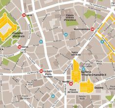 Milan map for Wallpaper* Magazine
