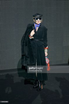Catherine Baba attends the Dior Homme Menswear Fall/Winter 2016-2017 show as part of Paris Fashion Week on January 23, 2016 in Paris, France.