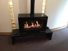 New pebble and stone effect Studio 1 gas stove from Gazco.