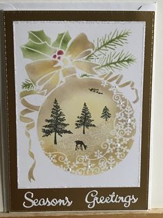 Making Stencils, Holiday Cards, Christmas Cards, Snowflake Stencil, Lavinia Stamps, Under The Mistletoe, How To Make Snow, Card Io, Christmas Baubles
