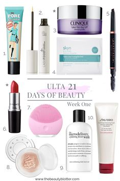 21 Days of Beauty Event at Ulta - Week 1 Beauty Make Up, Diy Beauty, Beauty Hacks, Beauty Tips, Beauty Secrets, Facial Wash, Eye Gel, Luxury Beauty
