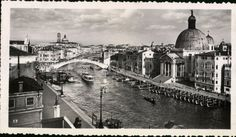 Grand Canal Venice Italy Vintage Black and by foundphotogallery