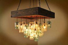 Mason jar chandelier ideas