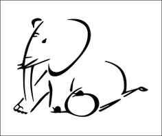 Elephant tattoo design (also, temporary tattoo)